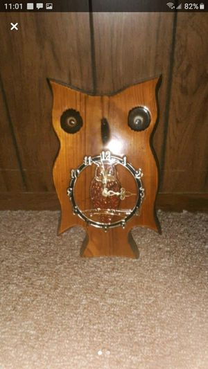 Antique wooden owl clock for Sale in Southbridge, MA