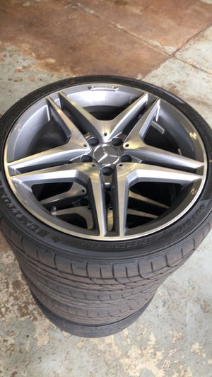 """19x8.5 Mercedes Rims and tires 19"""" for Sale in Canton, MA"""