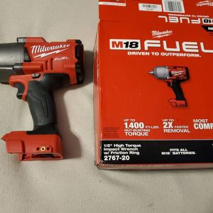 Milwaukee M18 FUEL 18-Volt Lithium-Ion Brushless Cordless 1/2 in. Impact Wrench with Friction Ring (Tool-Only) for Sale in Tacoma, WA