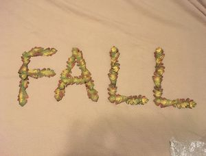 FALL - metal letters by Roundtop Collection, NEW with tags for Sale in Houston, TX