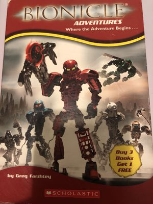 BIONICLE BOXED SET: CHRONICLES 1-4 ; ADVENTURES 1-3 By C.a. Hapka for Sale in Garden Grove, CA