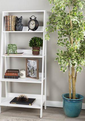 New!! Bookcase, ladder 4 shelf bookcase, bookshelves, organizer, living room furniture, storage unit , white for Sale in Phoenix, AZ