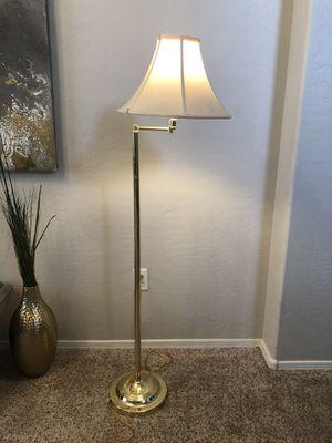 Tall lamp floor lamp gold lamp for Sale in Gilbert, AZ