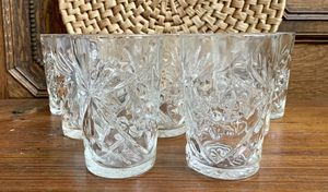 • 9x vintage libbey style cut glass glassware • for Sale in Issaquah, WA