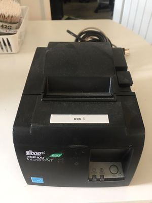 STAR TSP100 thermal printer w/paper for Sale in Riverside, CA