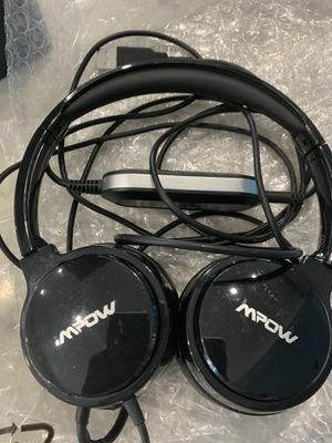 Mpow 071 USB Headset/ 3.5mm Computer Headset with Microphone Noise Cancelling, Lightweight PC Headset Wired Headphones for Sale in Lakewood, CA