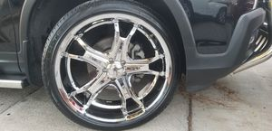 22 wheels and tires rent new tires and wheels rent new 2 week for Sale in Anaheim, CA