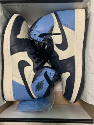 Air Jordan 1 Retro High OG - UNC OBSIDIAN - SZ 3.5Y for Sale in Hemet, CA