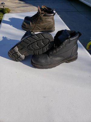 Size 9.5 steel toe work boots for Sale in Moreno Valley, CA