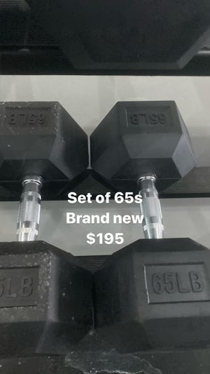 Set of 65s bumper dumbbells brand new condition for Sale in Hialeah, FL