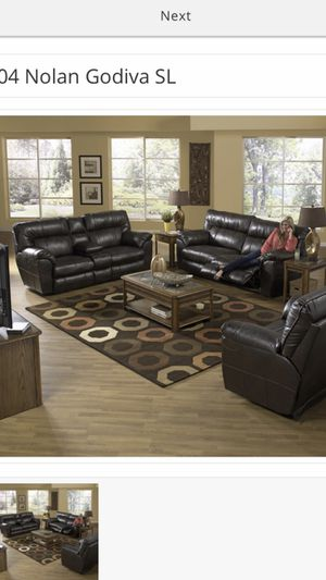 Nolan Godiva Reclining Sofa and Love!! for Sale in Richardson, TX
