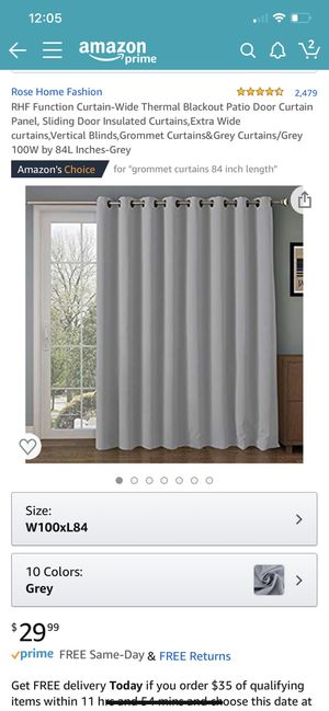 Sliding door blackout curtain for Sale in Kent, WA