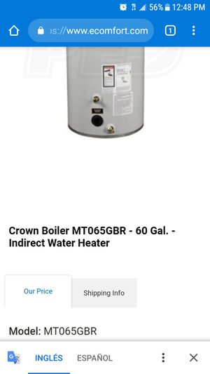 calentador de agua water heater for Sale in Sterling, VA