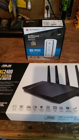 Asus router Motorola router for Sale in Rocklin, CA