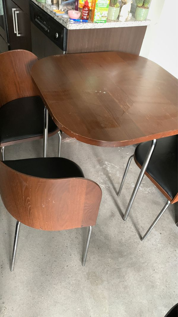 IKEA corner table with (3) chairs only