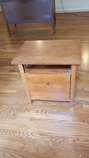 Wood file cabinet, works like end table or night stand for Sale in Rockville, MD