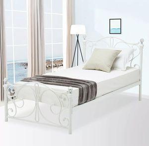 2 Twin Size Metal Beds Frame wood Slats Headboard Footboard for Sale in Bal Harbour, FL