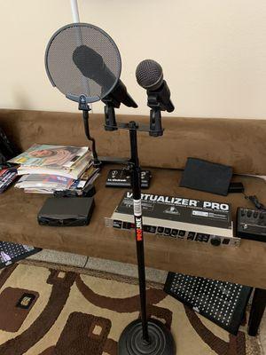 Vocal Music Studio Equipment. Wireless & Corded Microphones, FX Processors, more for Karaoke, DJ's, Singers for Sale in Menifee, CA