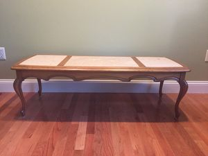 Sold as a set for $250 or $100 a piece. Made in Italy and imported with no markings or scratches. Italian inlaid marble oak end and coffee tables. EA for Sale in OH, US