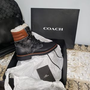 Coach Black Leather Boots Size 9.5Mens for Sale in Brooklyn, NY