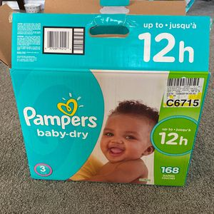 Pampers Baby Dry Size 3 Diapers for Sale in Simpsonville, SC