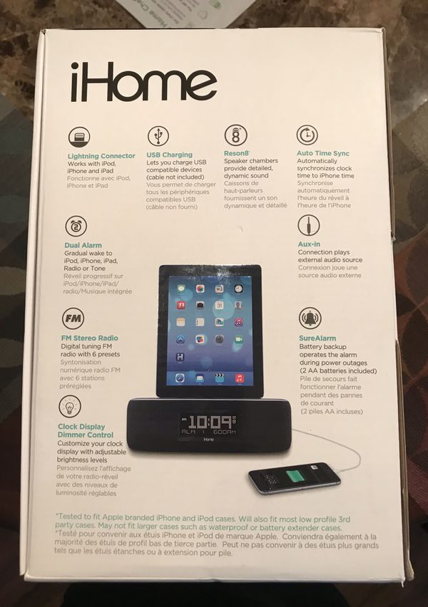 iHome iDL44GC Clock Radio Dual Charging FM Stereo iPhone iPad Dock NEW  SEALED for Sale in Miami, FL - OfferUp