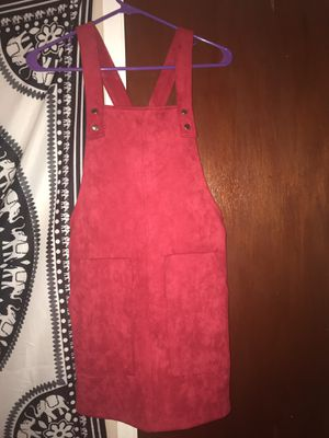 Red Forever 21 overall dress Size Small for Sale in Stone Mountain, GA