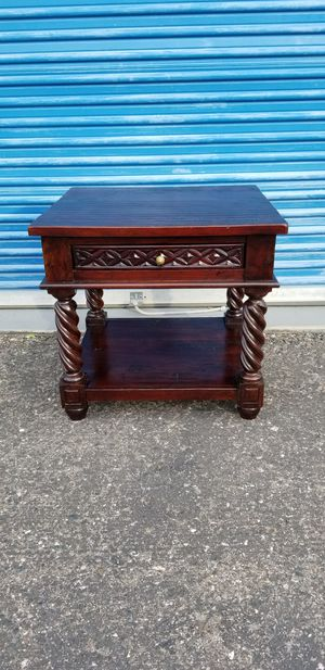 Solid wood nightstand or end table. Heavy and well made. for Sale in Phoenix, AZ