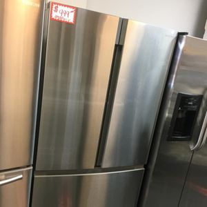 NEW SCRATCH AND DENT INSIGNIA STAINLESS STEEL FRENCH DOORS FRIDGE WITH WARRANTY for Sale in Laurel, MD