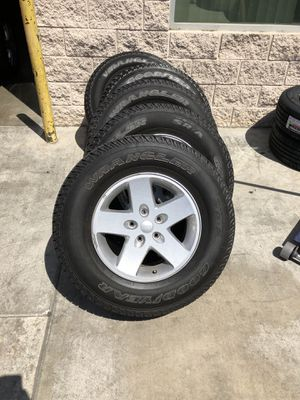 Jeep Wrangler rims with tire for Sale in Burbank, CA