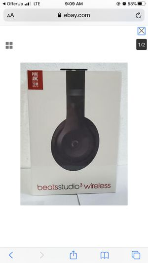 Beats by Dr. Dre Beats Studio 3 Wireless Noise Cancellation Headphones for Sale in Compton, CA