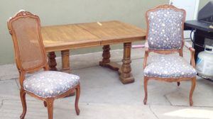 Solid Wood Dinner Table With 6 Chairs & Extenders Pieces - Great For Thanksgiving - Must Go Today for Sale in Fullerton, CA