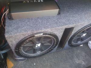 Kicker 12s & 1000W Crunch Amp for Sale in Fresno, CA