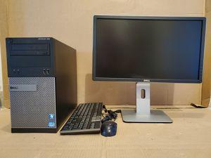Dell Optiplex 390 PC computer, Intel Core i3 Processor, 500GB , 4GB RAM, 22 inche Dell 1080 monitor for Sale in Laveen Village, AZ