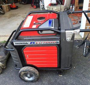 Honda generator eu 7000 Is for Sale in Woodbridge, VA