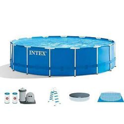 """Intex 18'x48"""" Above Ground Prism Metal Frame Swimming Pool w/ Pump for Sale in Washington,  DC"""