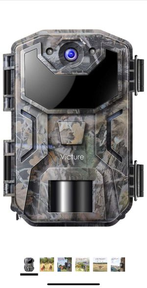 Trail Game Camera 20MP 1080P Full HD with Night Vision Motion Activated Waterproof IP66 Wildlife Trap Camera No Glow Infrared with for Hunting and Wi for Sale in Lancaster, CA
