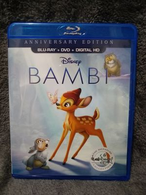 Disney's BAMBI (Blu-ray + DVD) for Sale in Spartanburg, SC
