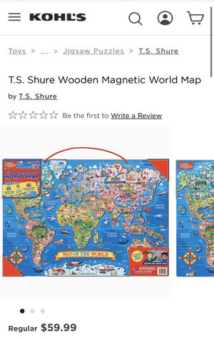 Magnetic World Map for Sale in Cumming, GA