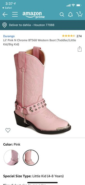 Durango girls boots- size 9D for Sale in Colorado Springs, CO