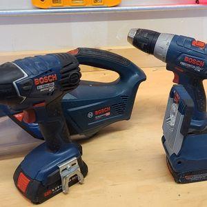 Bosch 18v Drill, Impact, Light, And Vacuum for Sale in Auburn, WA