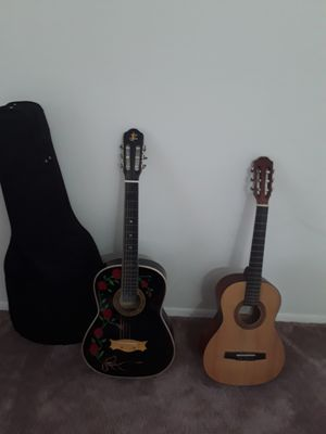 $80(GUITAR AND AMP) Limited edition Esteban Acoustic/Electric Guitar + Amplifier for Sale in Montgomery Village, MD