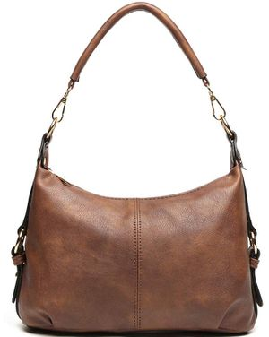 Shoulder Purse for Women PU Leather Small Hobo Handbag Top Handle Bag Crossbody Brown + Katloo Nail Clipper for Sale, used for sale  New Brunswick, NJ