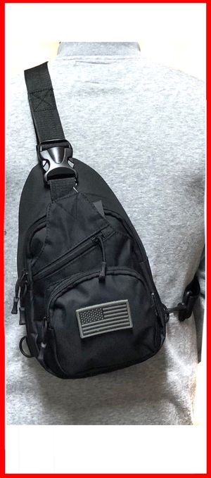 NEW! Small Compact Tactical Military Style Sling Side Crossbody Bag gym bag work bag travel backpack camping hiking biking chest bag for Sale in Carson, CA
