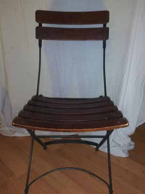 Antique folding chair for Sale in Port Charlotte, FL