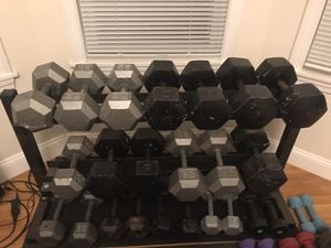 Weights + Rack for Sale in Newton, MA