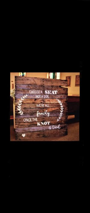 Large Rustic Wedding Sign for Sale in East Freetown, MA