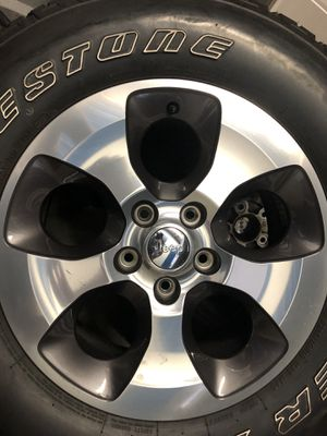 "Jeep wheels and tires - set of 5 ——— 18"" Super Clean...... make offer for Sale in St. Petersburg, FL"