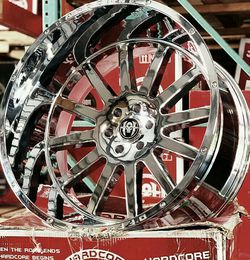 22x12 Chrome HARDCORE Wheels and tires set 33125022 for Sale in Phoenix,  AZ