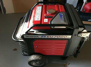 - Gas Powered Honda EU7000is generator - ELECTRIC START for Sale in Riverside, CA